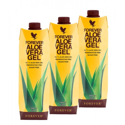 Forever Aloe Vera Gel Trójpak, Aloes do piciaq 3 sztuki , Aloe Vera Forever trzy litry